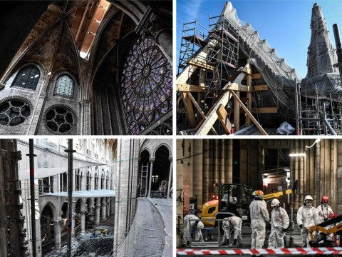 Eerie pictures from inside Notre Dame show full scale of damage