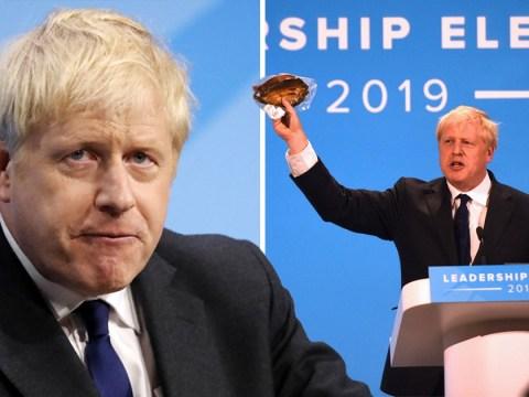 Boris Johnson waves kipper and declares himself a feminist at final hustings
