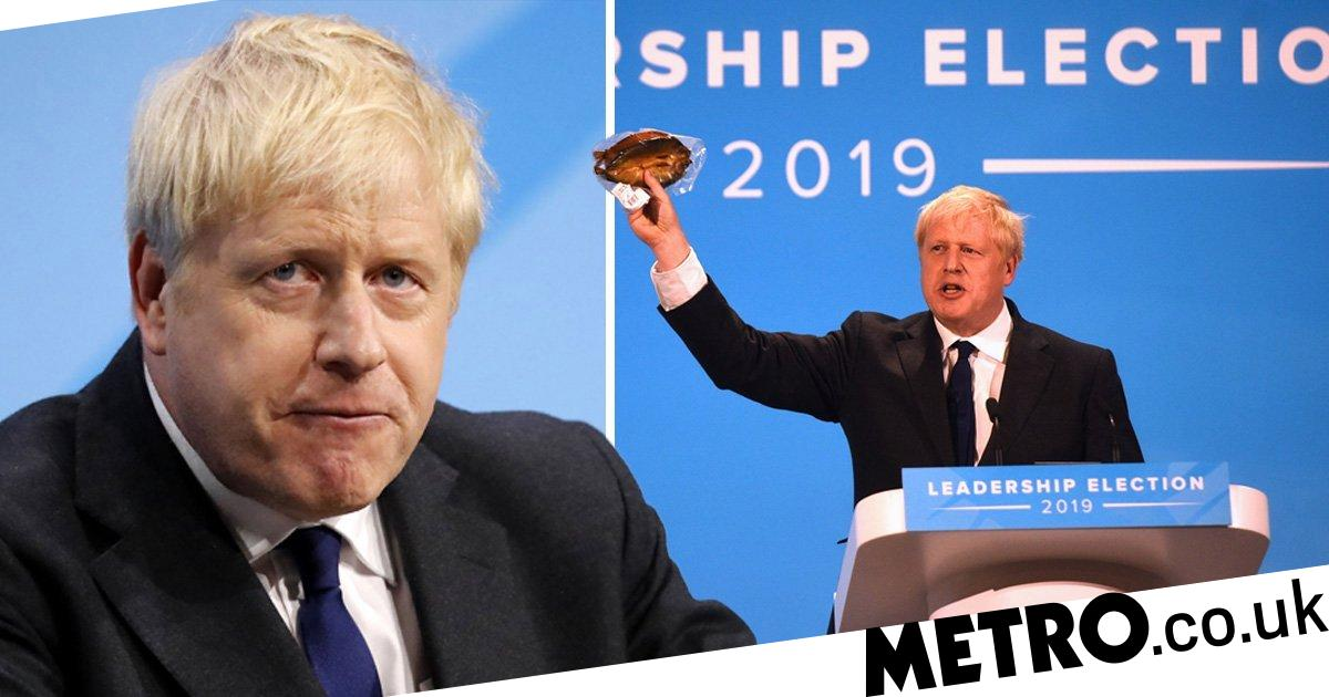 Boris Johnson wields kipper and declares himself a feminist at final hustings