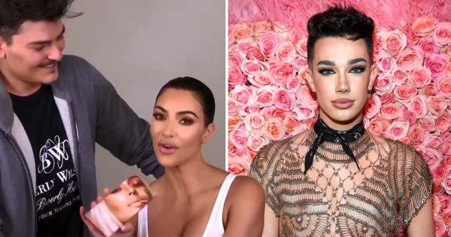 Kim Kardashian and James Charles