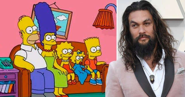 Jason Momoa and the simpsons