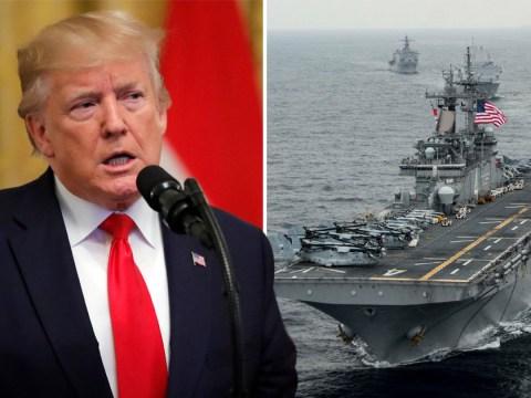 Donald Trump says US warship has shot down 'hostile' Iranian drone