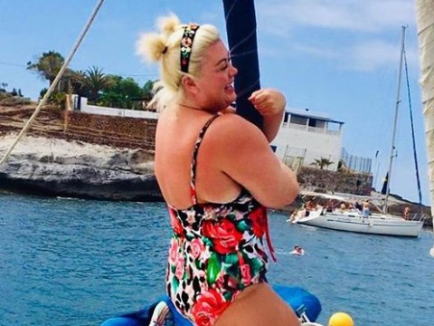 Gemma Collins defines living your best life as she enjoys boat trip in Spain