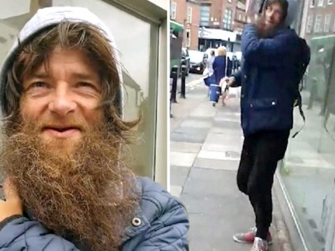 Man confronts beggar who admitted lying about being homeless