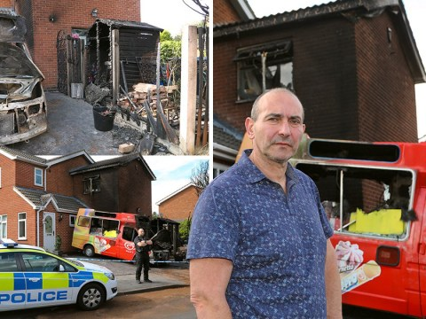 Ice cream seller Mr Cool left furious after vans torched outside his home