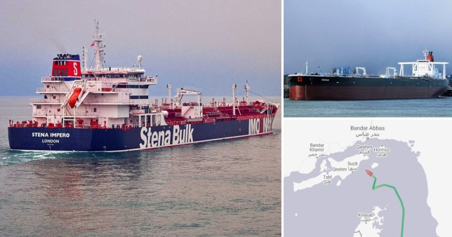 Two British oil tankers 'seized by Iranian Armed Forces in the Gulf'