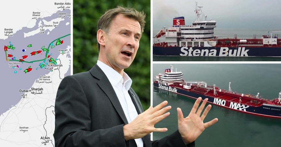 Jeremy Hunt. Oil tanker