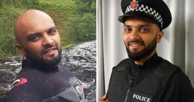 Pc Shazad Saddique died during a day trip with his son while on holiday in Scotland (Picture: PA)
