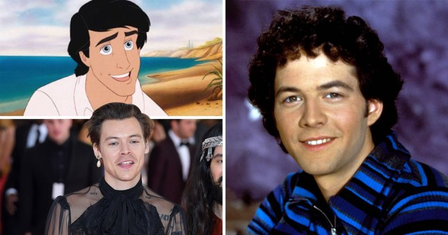 Harry Styles, Christopher Daniel Barnes and Prince Eric from Disney's The Little Mermaid
