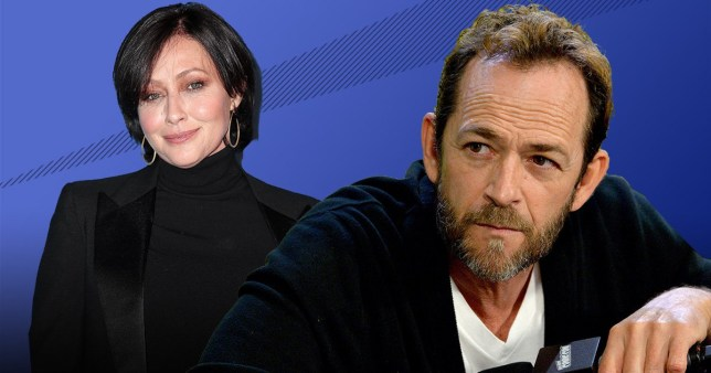 Shannen Doherty and Luke Perry