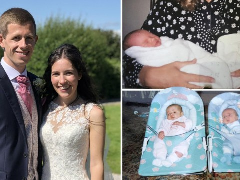 Couple born just hours apart in the same hospital wed 23 years later