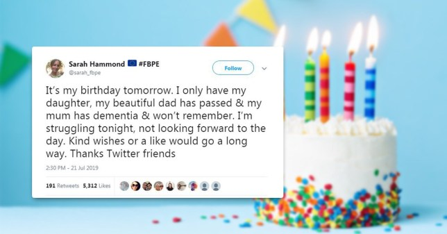 Astounding Happy Birthday Sarah Hammond The Woman Who Tweeted Being Lonely Funny Birthday Cards Online Necthendildamsfinfo