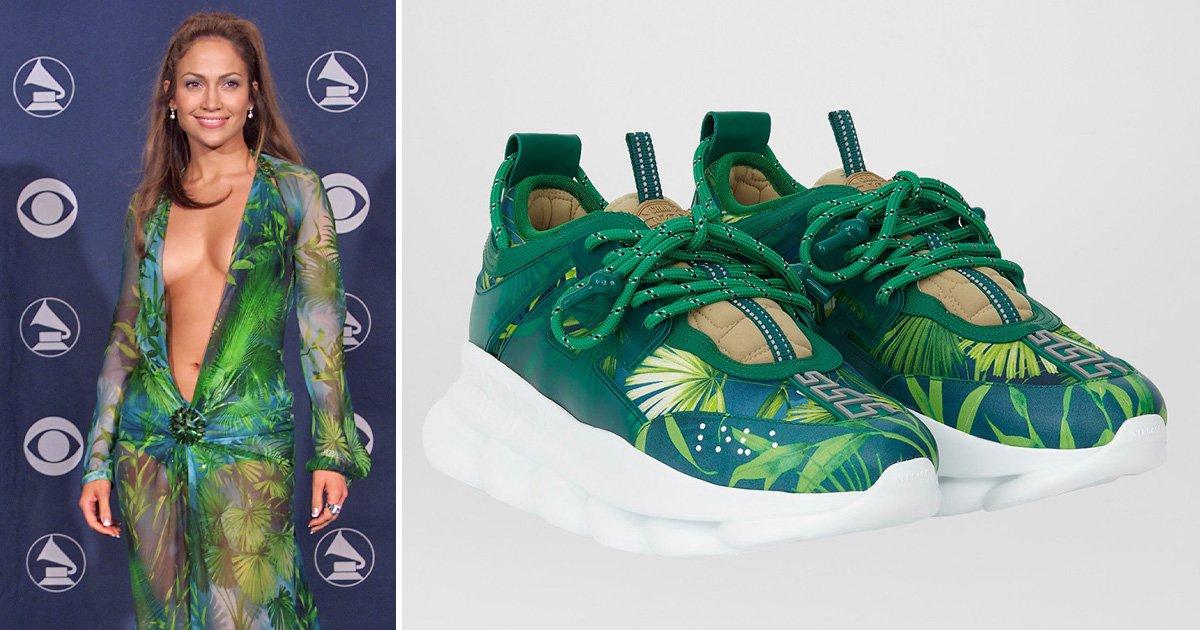green Versace Grammys dress