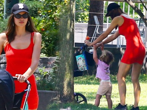 Irina Shayk looks effortlessly cool in red dress and baseball hat combo as she 'takes time to heal'