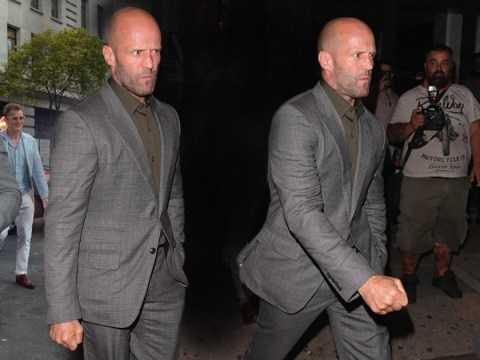 Jason Statham looks like he's ready to punch someone as he leaves afterparty with clenched fists