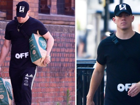 Channing Tatum carries his own groceries just like us after Whole Foods shopping spree in London