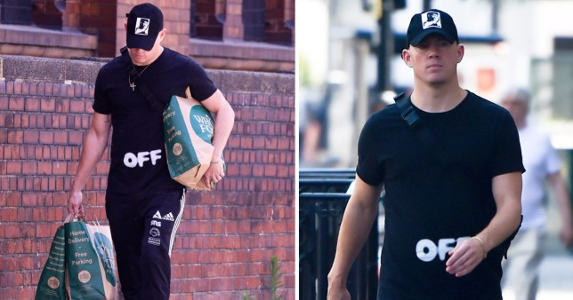 Channing Tatum shopping in Whole Foods
