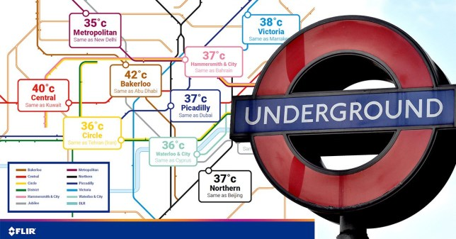 Tube heat map shows hottest line could reach 42°C