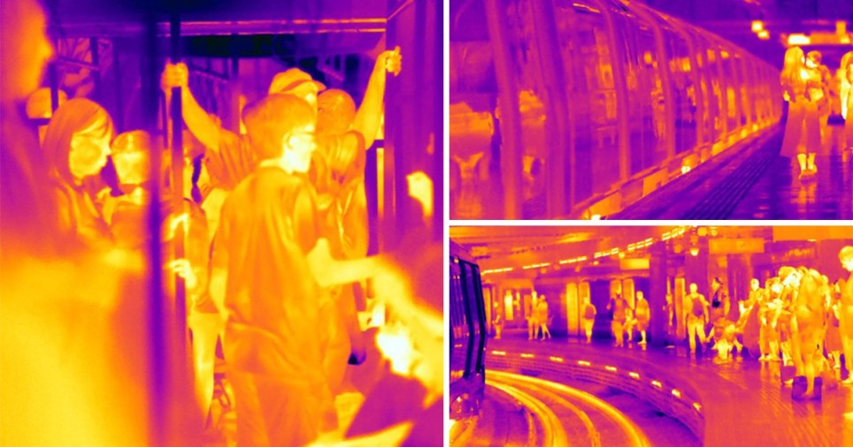 Thermal imaging on London Underground