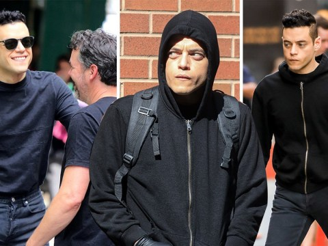 Bond 25 villain Rami Malek already looking pretty sketchy as he films Mr Robot