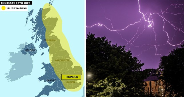 Lightning storms to follow hottest heatwave ever