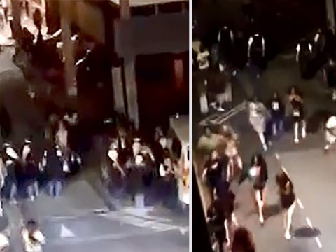 Teenagers run in panic after stabbing on notorious London housing estate