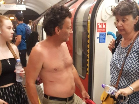 Don't be these guys on public transport in the heatwave