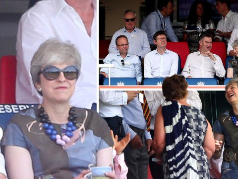 Theresa May spends first day as a backbencher by watching cricket