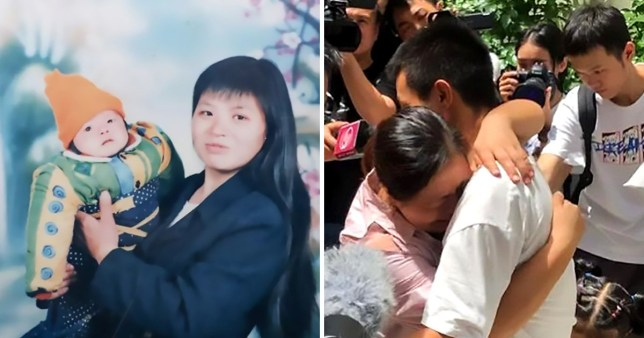 Wang Hua's son was taken when he was just a baby (Picture: AsiaWire)