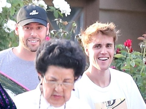 Justin Bieber looks pretty happy with himself with Scooter Braun and Jaden Smith amid Taylor Swift feud