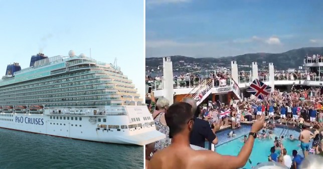 A mass brawl broke out on a P&O cruise ship from Norway to Southampton after a 'clown' is believed to have started fighting with passengers.
