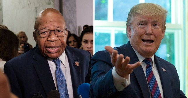 Donald Trump's tweets about Baltimore and Representative Elijah Cummings have been condemned as 'racist attacks' (Picture: AFP)