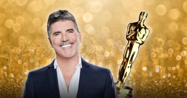 Simon Cowell with Oscar