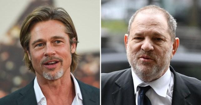 Brad Pitt and Harvey Weinstein
