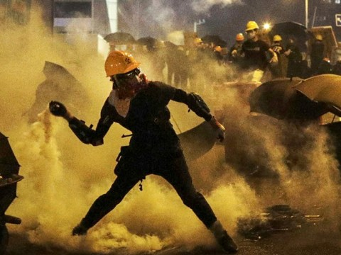 Police use tear gas again as Hong Kong protests continue