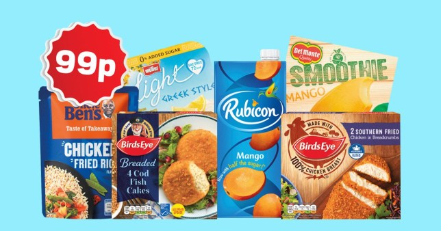 Lidl products that are available for 99p