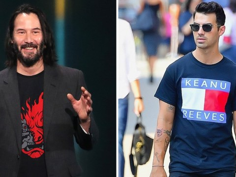 Joe Jonas is a big Keanu Reeves stan and is rocking a t-shirt we really want