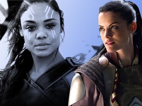 Thor's Jaimie Alexander tells Avengers' Tessa Thompson she'll be Valkyrie's queen