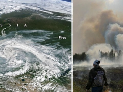 The Arctic is engulfed in wildfires so huge you can see them from space