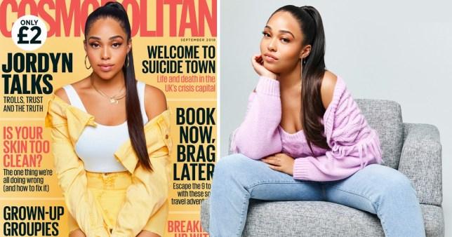 Jordyn Woods on Cosmopolitan cover