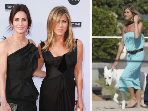 Courteney Cox sends 'love' to Jennifer Aniston and Justin Theroux after dog Dolly's death