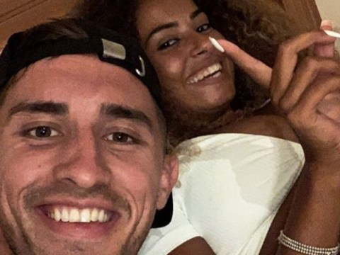 Love Island's Amber Gill and Greg O'Shea go Instagram official as they cuddle in cute first selfie