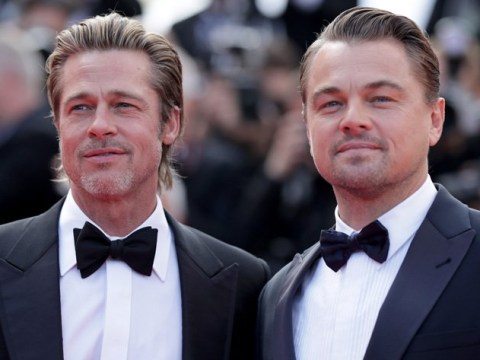 Brad Pitt 'only spoke to Leonardo DiCaprio in character' as he jokes about co-star bromance