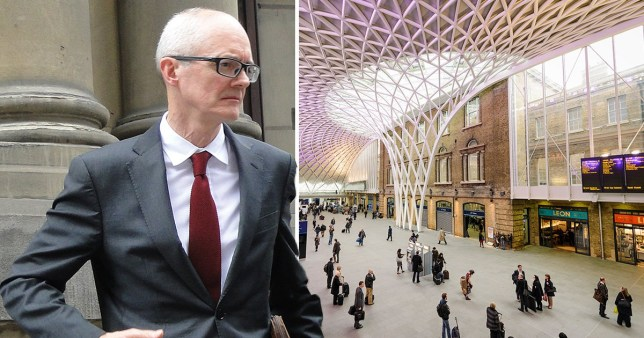 Simon Checkley pleaded guilty to assaulting the worker at King's Cross station London