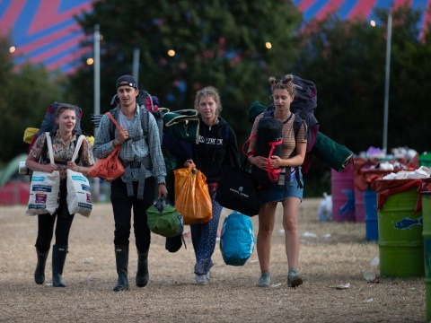 When do you have to leave Glastonbury by and how long does the clean up last?