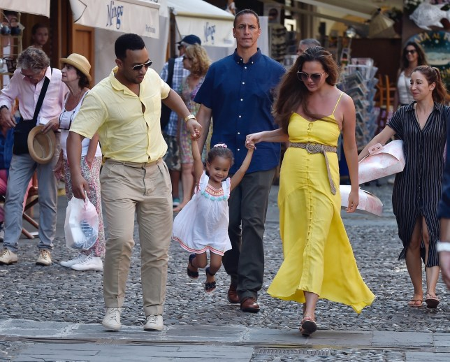 John Legend and Chrissy Teigen shared a sweet moment with their daughter Luna in Portofino, Italy