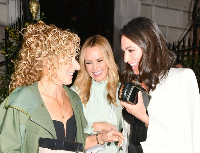 Amanda Holden and Laura Silverman and Kelly Hoppen seen leaving Annabel's