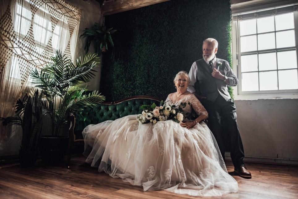 Great Grandparents Celebrate 60th Anniversary In Wedding