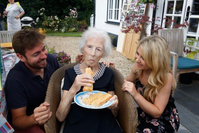 Mary Emerson marked her 100th birthday with plenty of sausage rolls