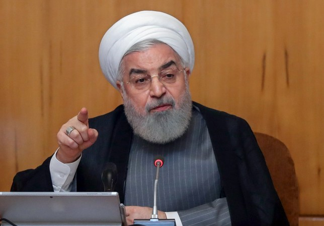 "A handout picture provided by the Iranian presidency on July 3, 2019 shows President Hassan Rouhani chairing a cabinet meeting in the capital Tehran. - Rouhani said Iran will exceed the uranium enrichment limit it agreed in a 2015 deal with major powers, raising it ""as much as necessary"". ""On July 7, our enrichment level will no longer be 3.67 percent. We will put aside this commitment. We will increase (the enrichment level) beyond 3.67 percent to as much as we want, as much as is necessary, as much as we need,"" Rouhani said during a cabinet meeting today. (Photo by HO / IRANIAN PRESIDENCY / AFP) / === RESTRICTED TO EDITORIAL USE - MANDATORY CREDIT ""AFP PHOTO / HO / IRANIAN PRESIDENCY"" - NO MARKETING NO ADVERTISING CAMPAIGNS - DISTRIBUTED AS A SERVICE TO CLIENTS ===HO/AFP/Getty Images"